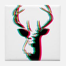 3D Deer - Awesome & Psychadelic Tile Coaster