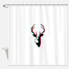 3D Deer - Awesome & Psychadelic Shower Curtain
