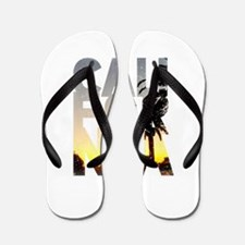 CA for California - Typo Flip Flops