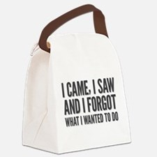 I came, I saw and I forgot what I Canvas Lunch Bag