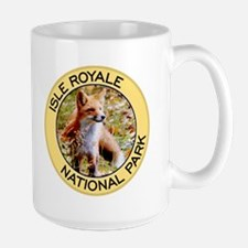 Isle Royale NP (Red Fox) Large Mug