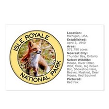 Isle Royale NP (Red Fox) Postcards (Package of 8)