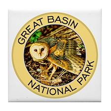 Great Basin NP (Barn Owl) Tile Coaster