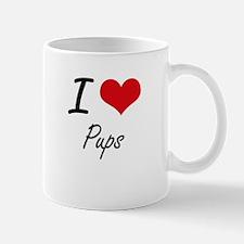 I Love Pups Mugs