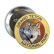 Grand Teton NP (Wolf) Button