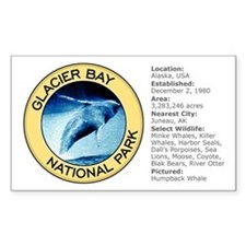 Glacier Bay NP (Humpback Whale) Sticker (Rectangul