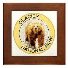 Glacier NP (Grizzly Bear) Framed Tile