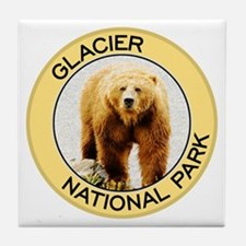Glacier NP (Grizzly Bear) Tile Coaster