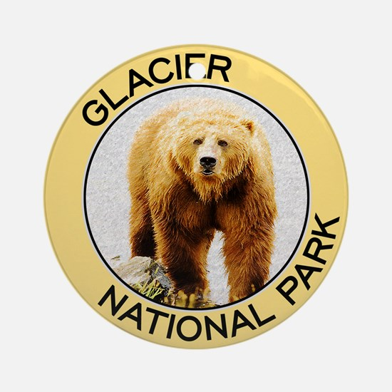Glacier NP (Grizzly Bear) Ornament (Round)