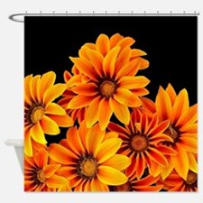 Orange Garden Flowers Shower Curtain