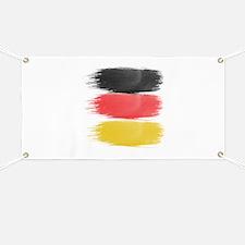 Germany Flag paint-brush Banner