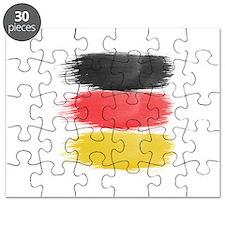 Germany Flag paint-brush Puzzle