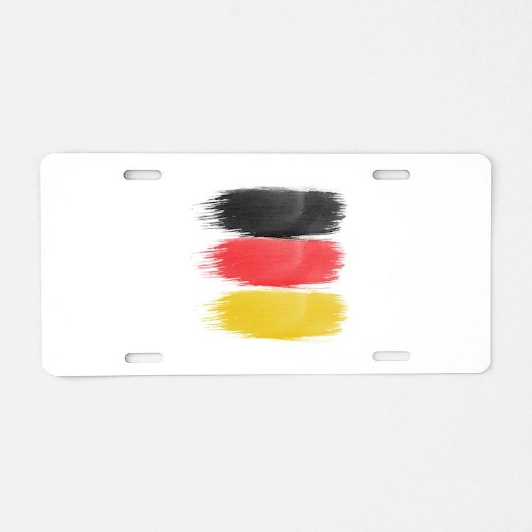 Germany Flag paint-brush Aluminum License Plate
