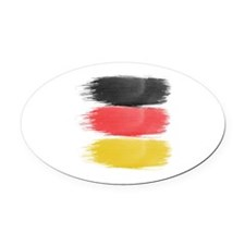 Germany Flag paint-brush Oval Car Magnet