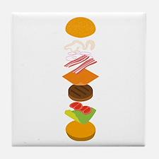 The perfect burger Tile Coaster