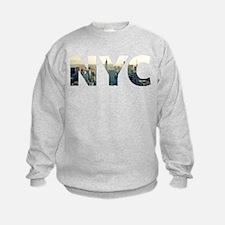 NYC for NEW YORK CITY - Typo Sweatshirt
