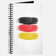 Germany Flag paint-brush Journal