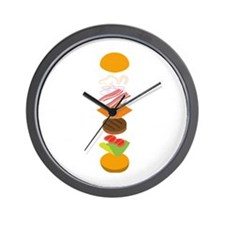 The perfect burger Wall Clock