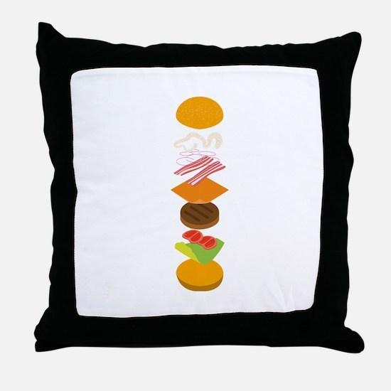 The perfect burger Throw Pillow
