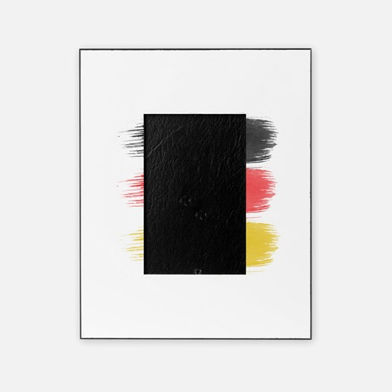 Germany Flag paint-brush Picture Frame