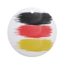 Germany Flag paint-brush Round Ornament