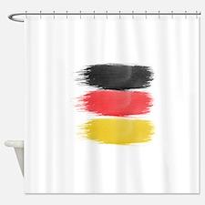 Germany Flag paint-brush Shower Curtain
