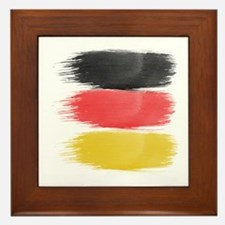 Germany Flag paint-brush Framed Tile