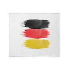 Germany Flag paint-brush Throw Blanket