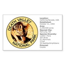 Death Valley NP (Coyote) Rectangle Decal