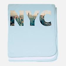NYC for NEW YORK CITY - Typo baby blanket