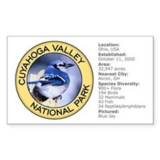 Cuyahoga Valley NP (Blue Jay) Sticker (Rectangular