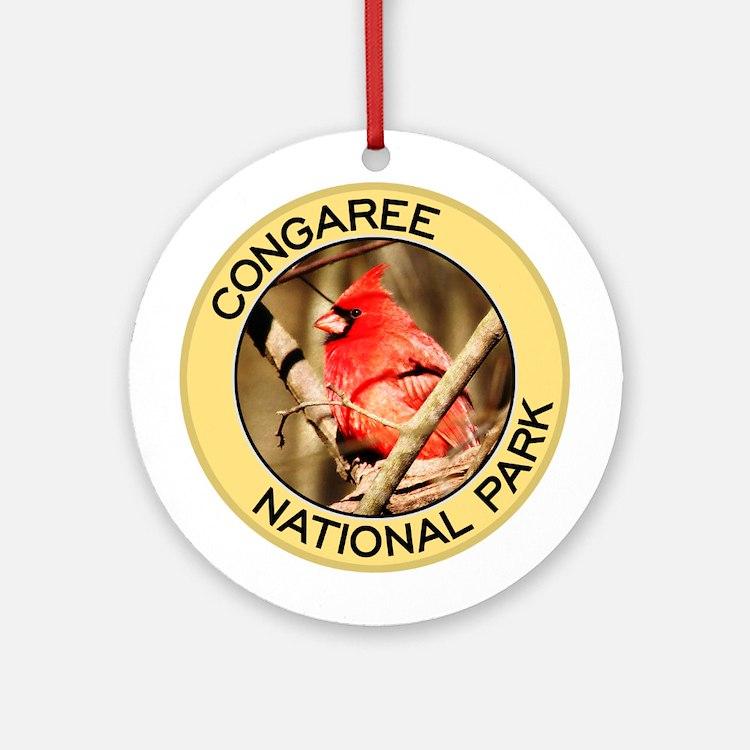 Congaree NP (Cardinal) Ornament (Round)