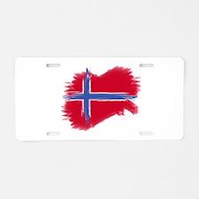 Norway Flag Aluminum License Plate