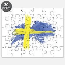 Sweden Flag Stockholm Puzzle