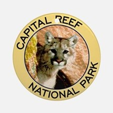Capital Reef NP (Mountain Lion) Ornament (Round)