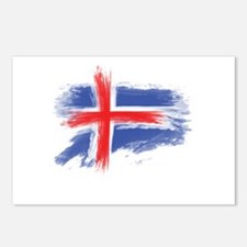 Iceland flag Postcards (Package of 8)