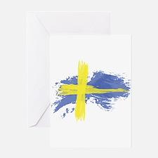 Sweden Flag Stockholm Greeting Cards