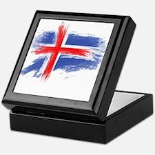 Iceland flag Keepsake Box