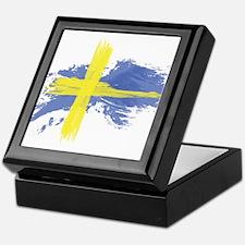 Sweden Flag Stockholm Keepsake Box