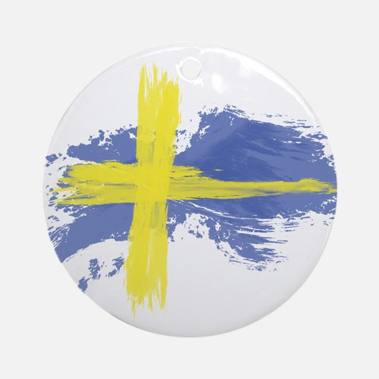 Sweden Flag Stockholm Round Ornament