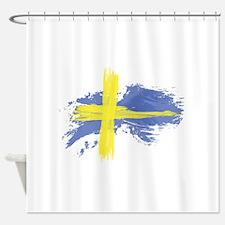 Sweden Flag Stockholm Shower Curtain