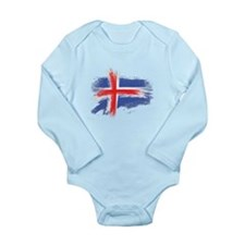 Iceland flag Body Suit