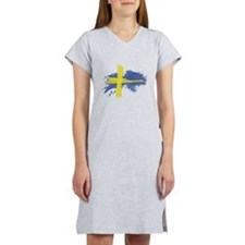 Sweden Flag Stockholm Women's Nightshirt