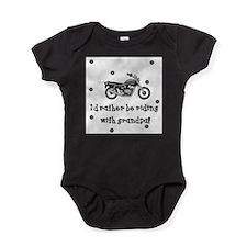 Cute Riding my bike Baby Bodysuit