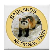 Badlands NP (Black-Footed Ferret) Tile Coaster