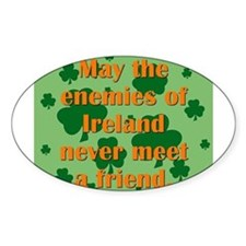 May The Enemies Of Ireland Decal