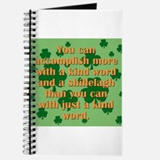 Kind Word And A Shillelagh Journal