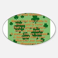 An Irish Welcome Sticker (Oval)