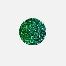 Emerald Glitter Mini Button