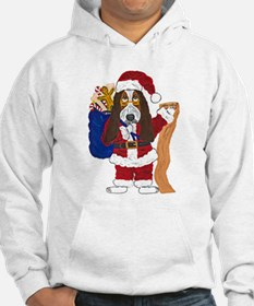 Basset Santa Checking List Of Good Bassets Hoodie